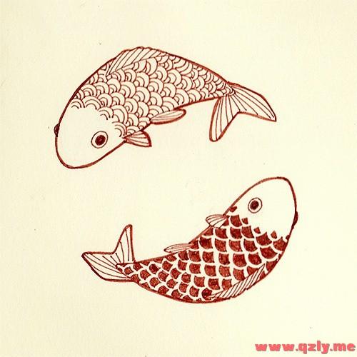 如何画鱼及鱼身上的花纹
